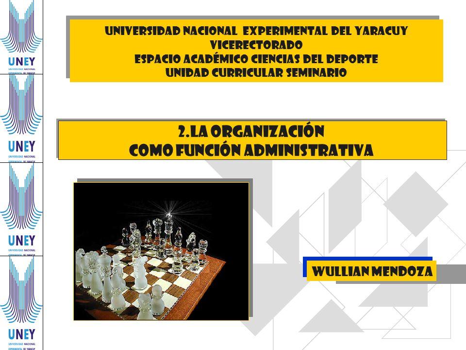 UNIVERSIDAD NACIONAL EXPERIMENTAL DEl YARACUY VICERECTORADO ESPACIO ACADÉMICO CIENCIAS DEL DEPORTE unidad curricular seminario Wullian Mendoza 2.La or