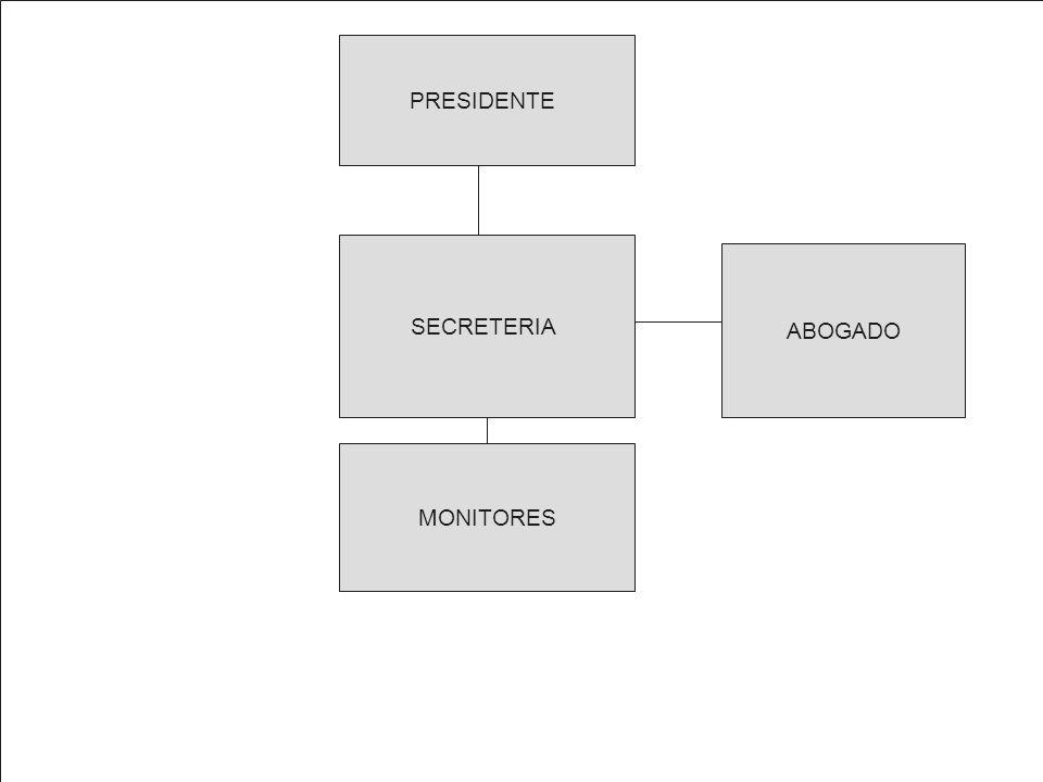 PRESIDENTE SECRETERIA MONITORES ABOGADO