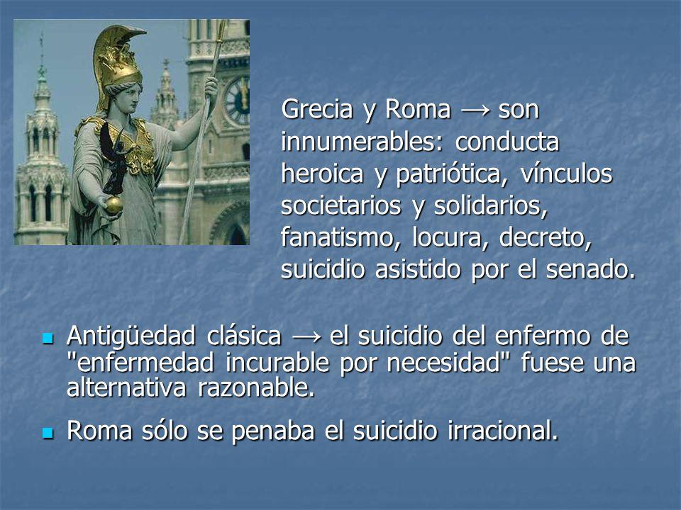 Grecia y Roma son Grecia y Roma son innumerables: conducta innumerables: conducta heroica y patriótica, vínculos heroica y patriótica, vínculos societ
