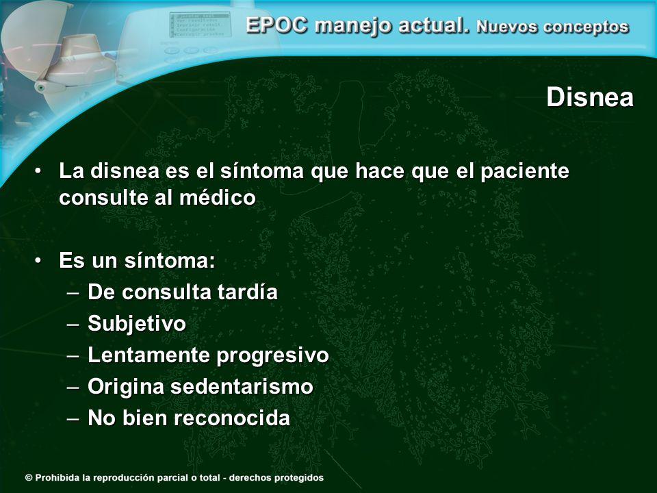 Disnea La disnea es el síntoma que hace que el paciente consulte al médicoLa disnea es el síntoma que hace que el paciente consulte al médico Es un sí