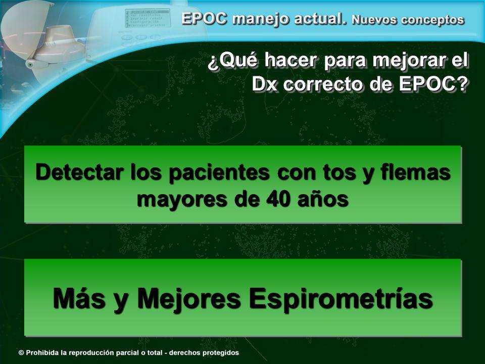 Más y Mejores Espirometrías ¿Qué hacer para mejorar el Dx correcto de EPOC.