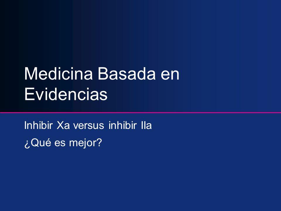 Medicina Basada en Evidencias Inhibir Xa versus inhibir IIa ¿Qué es mejor?