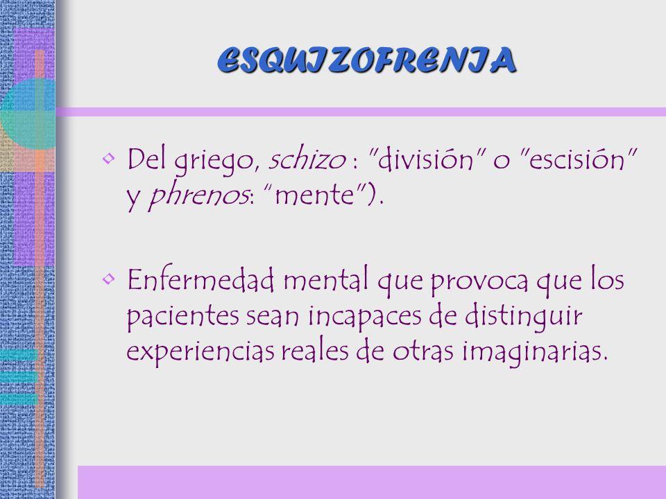 Disfunción psicosocial *Relaciones interpersonales.