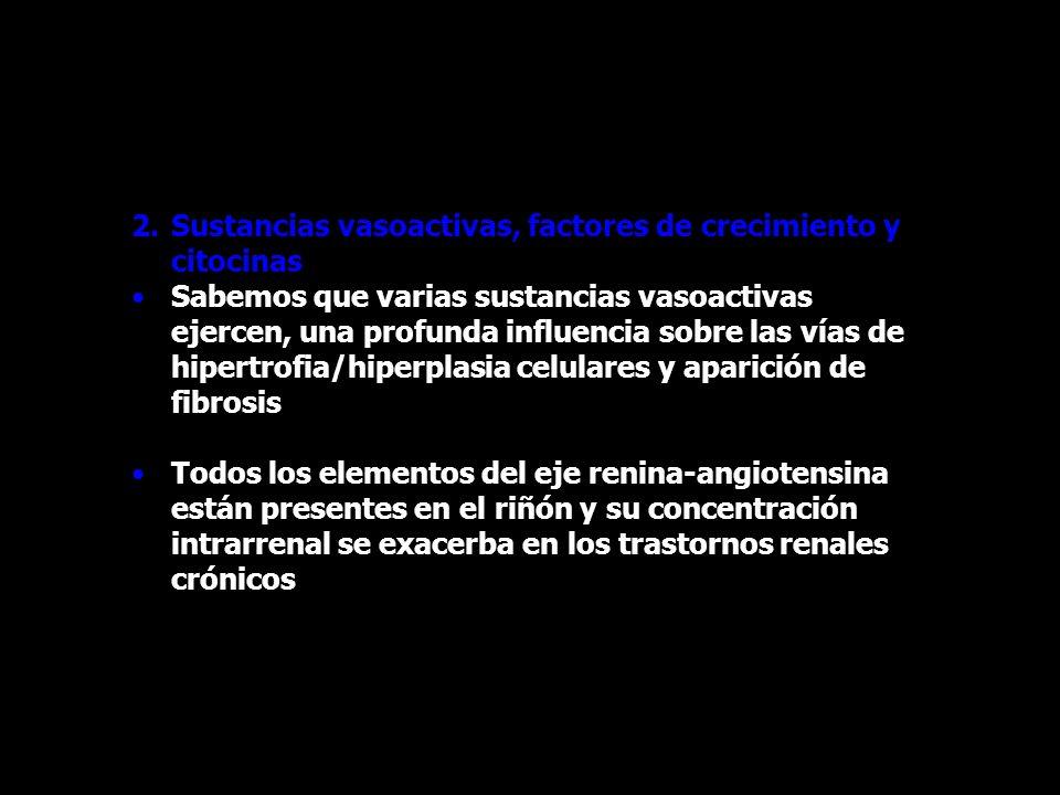 2.Sustancias vasoactivas, factores de crecimiento y citocinas Sabemos que varias sustancias vasoactivas ejercen, una profunda influencia sobre las vía