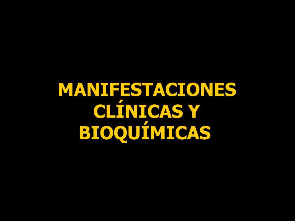 MANIFESTACIONES CLÍNICAS Y BIOQUÍMICAS