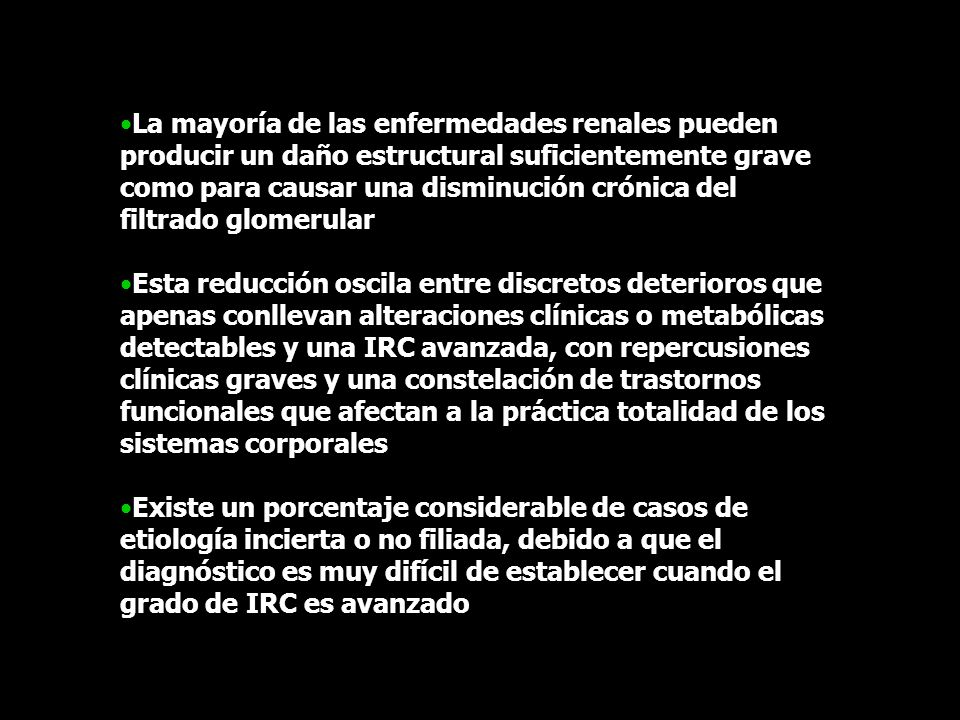 Exploración radiológica Recordar el peligro que en situación de IRC supone el uso de contrastes yodados Ecografía Ningún riesgo Bajo costo