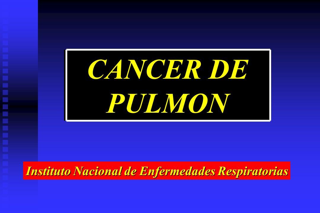 CANCER DE PULMON Instituto Nacional de Enfermedades Respiratorias