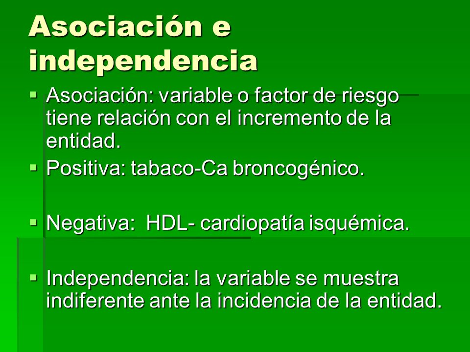Criterios de causalidad 1.- Fuerza de asociacion: relacion de frecuencia con individuos expuestos respecto a los no expuestos.