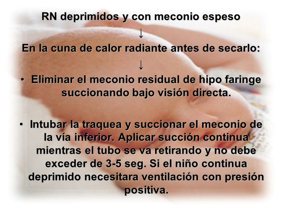 Aspirar contenido gástrico cuando el RN halla sido reanimado y los signos vitales estables.