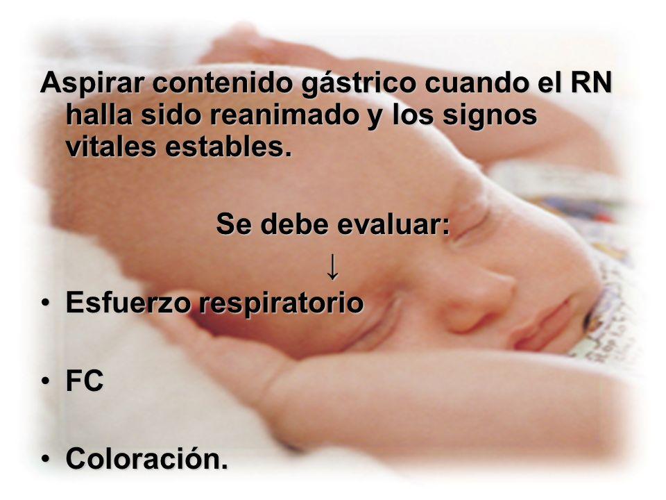 Pasos: Observar y evaluar la respiración del neonato; si es normal evaluar la FC, si no lo es iniciar con VPP.Observar y evaluar la respiración del neonato; si es normal evaluar la FC, si no lo es iniciar con VPP.