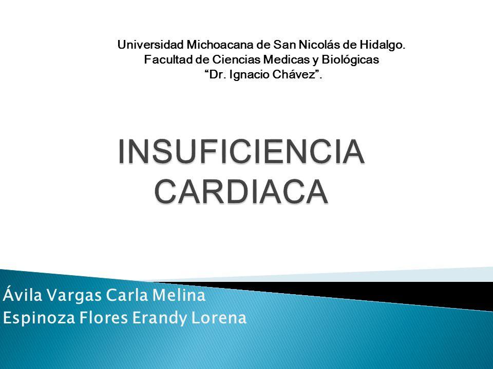 La insuficiencia es el síndrome resultante de la incapacidad del corazón para conservar un gasto que cubra los requerimientos metabólicos del organismo.