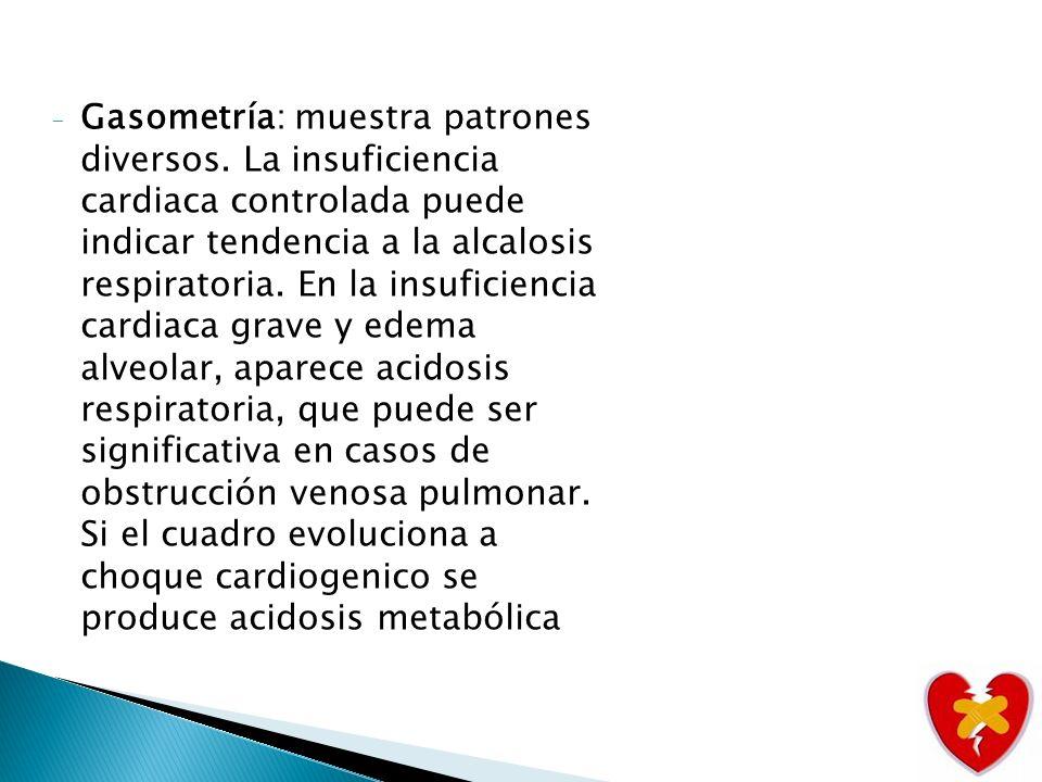 Bh: permite diagnosticar anemia que agrava insuficiencia cardiaca al reducir la resistencia sitemica, asentua la hipoxia de los tejidos.