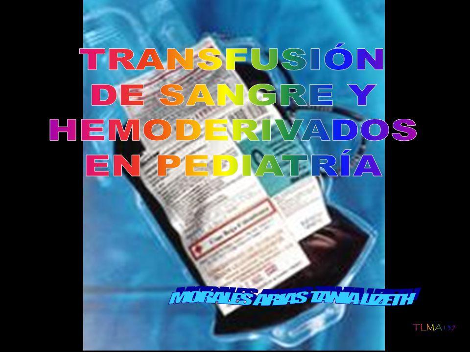 Aunque el uso de transfusiones sanguíneas puede conllevar algunos riesgos, la incorporación de técnicas como la irradiación gamma, la leucoredución o la determinación sistemática de serologías virales en el material a transfundir, han hecho la transfusión sanguínea mucho más segura La indicación de transfusión sanguínea debe ser cuando los beneficios superen los riesgos