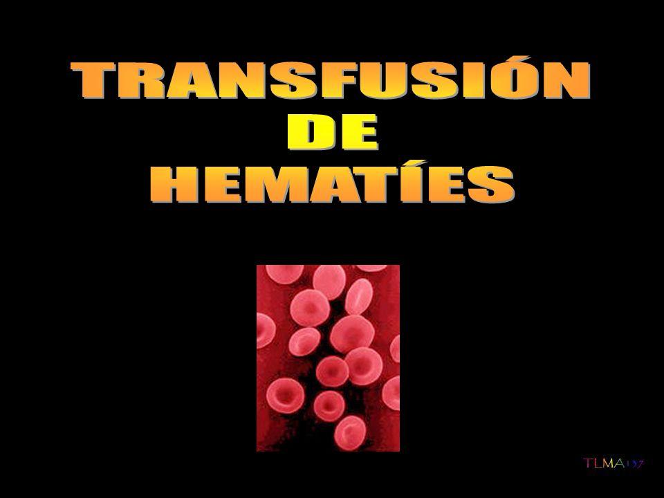 Para el cálculo del volumen a transfundir (VR) de concentrado de hematíes (Hto alrrededor del 70 %) debe tenerse en cuenta la volemia (neonato: 80 ml/Kg; lactante y niño: 60 ml/Kg) El ritmo de reposición se hará a razón de 10ml/Kg/hr, si no existe insuficiencia cardiaca.