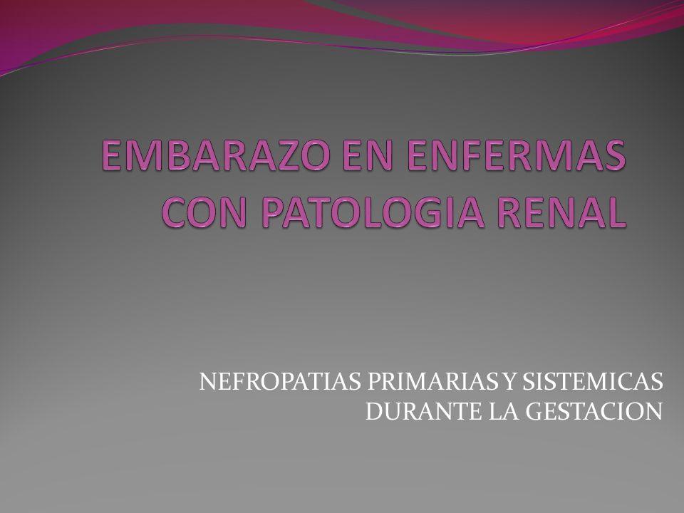 NEFROPATIAS PRIMARIAS Y SISTEMICAS DURANTE LA GESTACION