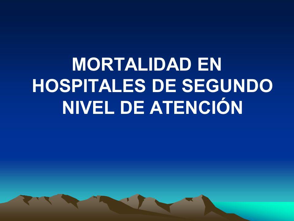 MORTALIDAD EN HOSPITALES DE SEGUNDO NIVEL DE ATENCIÓN