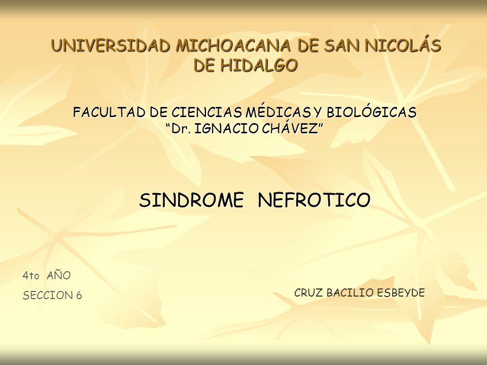 UNIVERSIDAD MICHOACANA DE SAN NICOLÁS DE HIDALGO FACULTAD DE CIENCIAS MÉDICAS Y BIOLÓGICAS Dr. IGNACIO CHÁVEZ 4to AÑO SECCION 6 CRUZ BACILIO ESBEYDE S