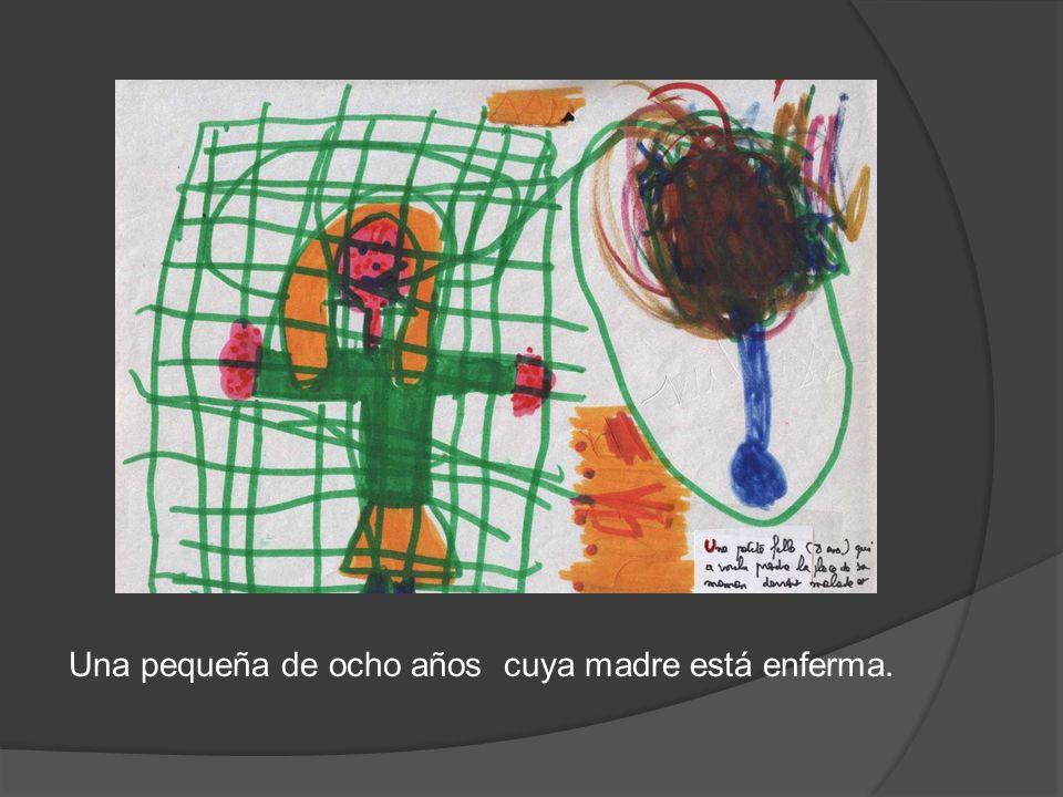 Una pequeña de ocho años cuya madre está enferma.