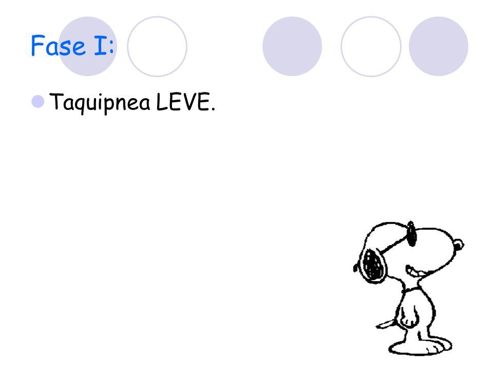 Fase I: Taquipnea LEVE.