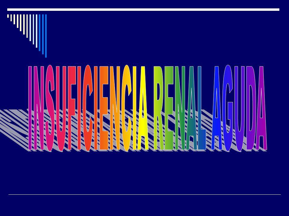 INSUFICIENCIA RENAL AGUDA La insuficiencia renal aguda (IRA) es una pérdida rápida de la función renal debido al daño a los riñones, resultando en la retención de los productos residuales nitrogenados, (urea y creatinina),como también los no nitrogenados, acompañado por una disminución de la tasa de filtrado glomerular (VFG).función renalriñonesureacreatinina