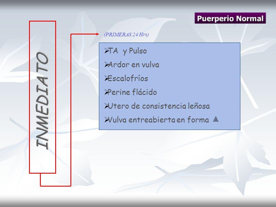 Clasificación Temprana Ocurre en las primeras 24 hrs posparto.