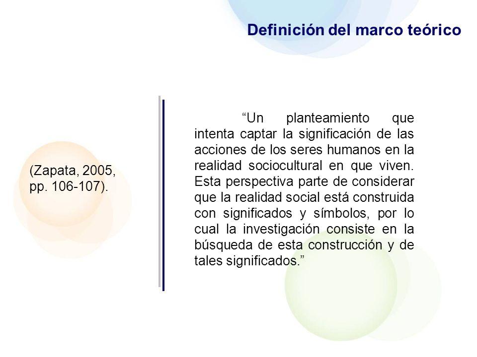 Funciones del marco teórico 1.Participa en la construcción del nuevo conocimiento.