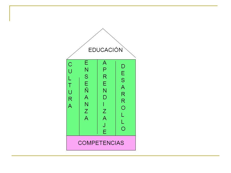 COMPETENCIAS EDUCACIÓN CULTURACULTURA ENSEÑANZAENSEÑANZA APRENDIZAJEAPRENDIZAJE DESARROLLODESARROLLO