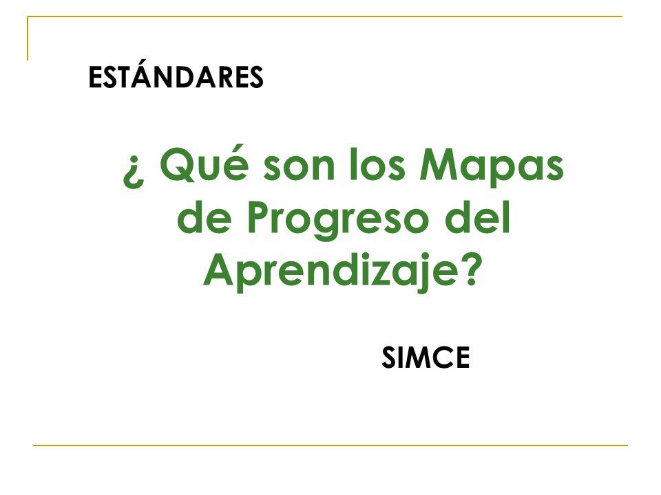 ¿ Qué son los Mapas de Progreso del Aprendizaje? ESTÁNDARES SIMCE