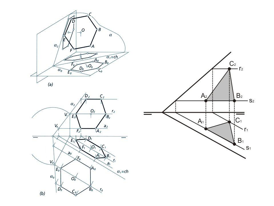 En el desabatimiento de la circunferencia podemos aplicar la afinidad ortogonal de eje la charnela y figuras homólogas la circunferencia abatida y su proyección sobre el mismo plano.