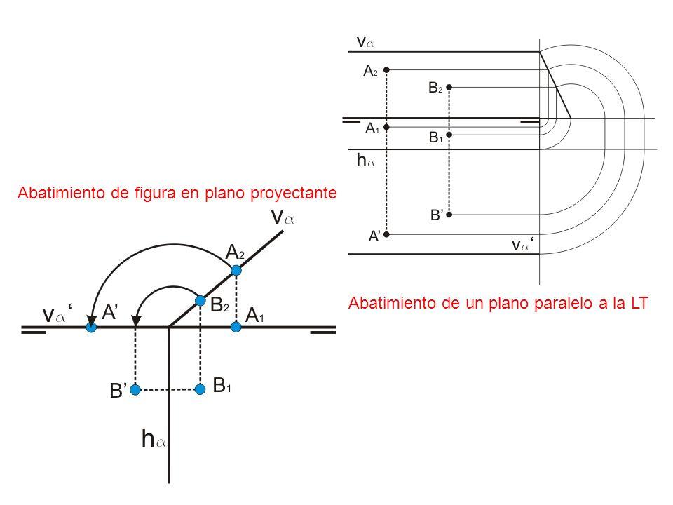 Abatimiento de un plano paralelo a la LT Abatimiento de figura en plano proyectante