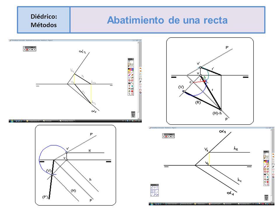 Diédrico: Métodos Abatimiento de una recta