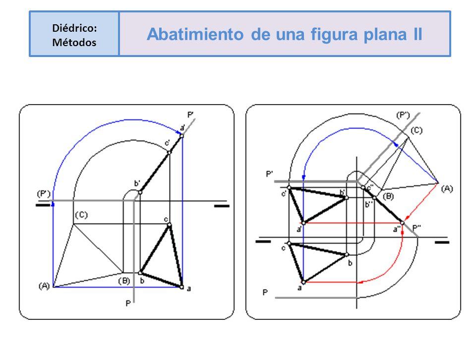 Diédrico: Métodos Abatimiento de una figura plana II