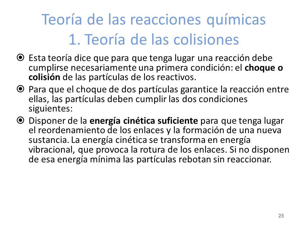 Ejemplo de mecanismo de reacción La reacción NO 2 (g) + CO (g) NO (g) + CO 2 (g) sucede en dos etapas: 1ª etapa (lenta): 2 NO 2 NO + NO 3 2ª etapa (rá