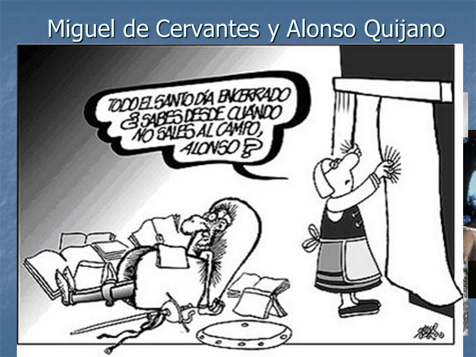 Miguel de Cervantes y Alonso Quijano Para hablar del Quijote debemos empezar con una síntesis biográfica de dos personas que vivieron en la segunda mi