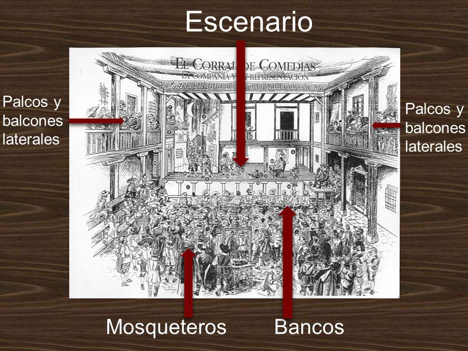 Escenario Palcos y balcones laterales Palcos y balcones laterales BancosMosqueteros