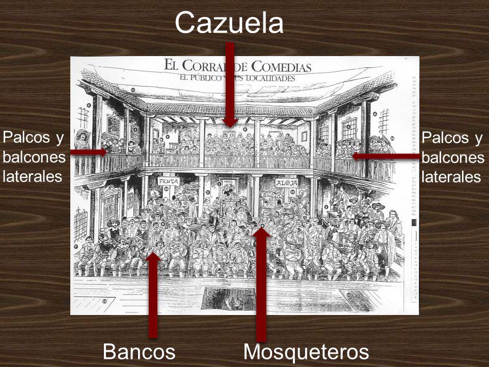Cazuela Palcos y balcones laterales Palcos y balcones laterales BancosMosqueteros