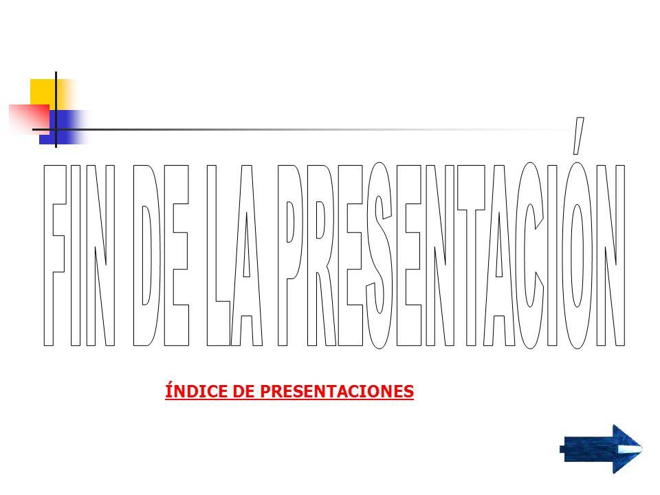 ÍNDICE DE LA PRESENTACIÓN LA EXPOSICIÓN ESTRUCTURA DE LOS TEXTOS EXPOSITIVOS