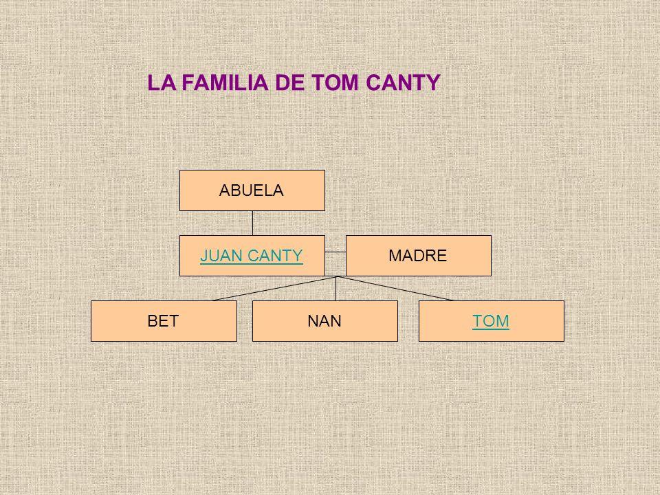 LA FAMILIA DE TOM CANTY ABUELA JUAN CANTYMADRE BETTOMNAN