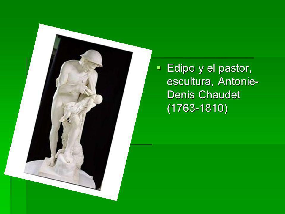 Edipo y el pastor, escultura, Antonie- Denis Chaudet (1763-1810) Edipo y el pastor, escultura, Antonie- Denis Chaudet (1763-1810)