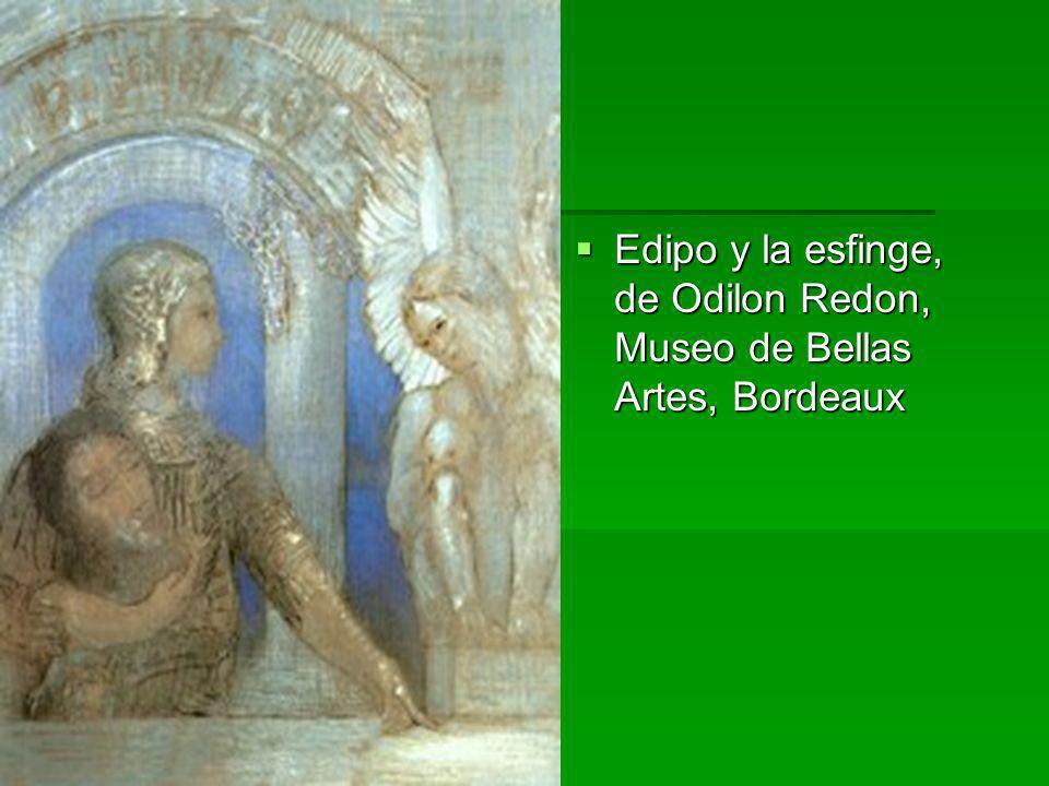 Edipo y la esfinge, de Odilon Redon, Museo de Bellas Artes, Bordeaux Edipo y la esfinge, de Odilon Redon, Museo de Bellas Artes, Bordeaux