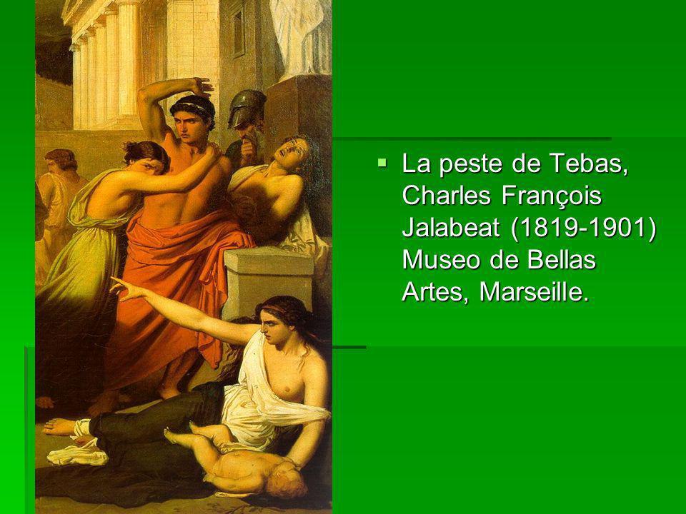 La peste de Tebas, Charles François Jalabeat (1819-1901) Museo de Bellas Artes, Marseille. La peste de Tebas, Charles François Jalabeat (1819-1901) Mu