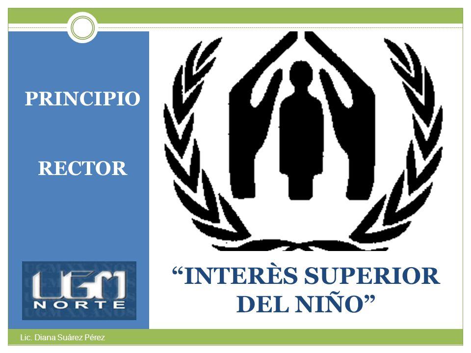 INTERÈS SUPERIOR DEL NIÑO PRINCIPIO RECTOR Lic. Diana Suárez Pérez