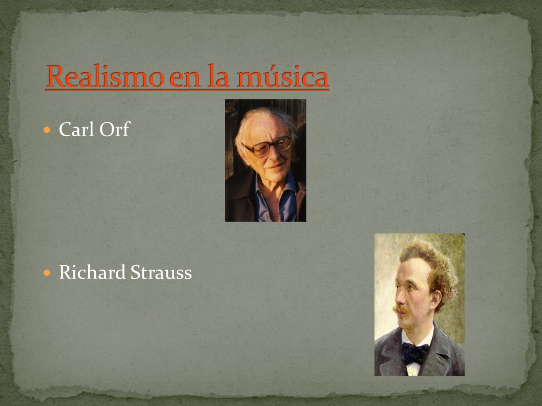 Carl Orf Richard Strauss