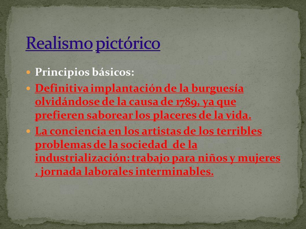 Principios básicos: Definitiva implantación de la burguesía olvidándose de la causa de 1789, ya que prefieren saborear los placeres de la vida.
