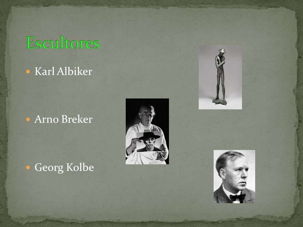 Karl Albiker Arno Breker Georg Kolbe