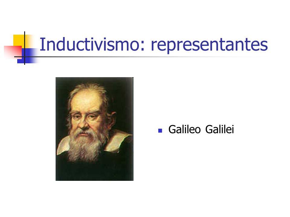 Inductivismo: representantes Galileo Galilei