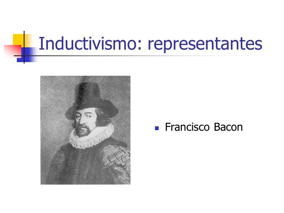 Inductivismo: representantes Francisco Bacon