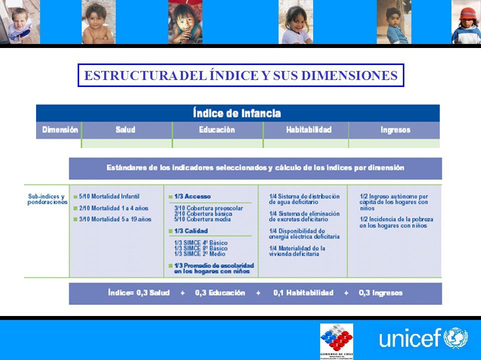 ESTRUCTURA DEL ÍNDICE Y SUS DIMENSIONES