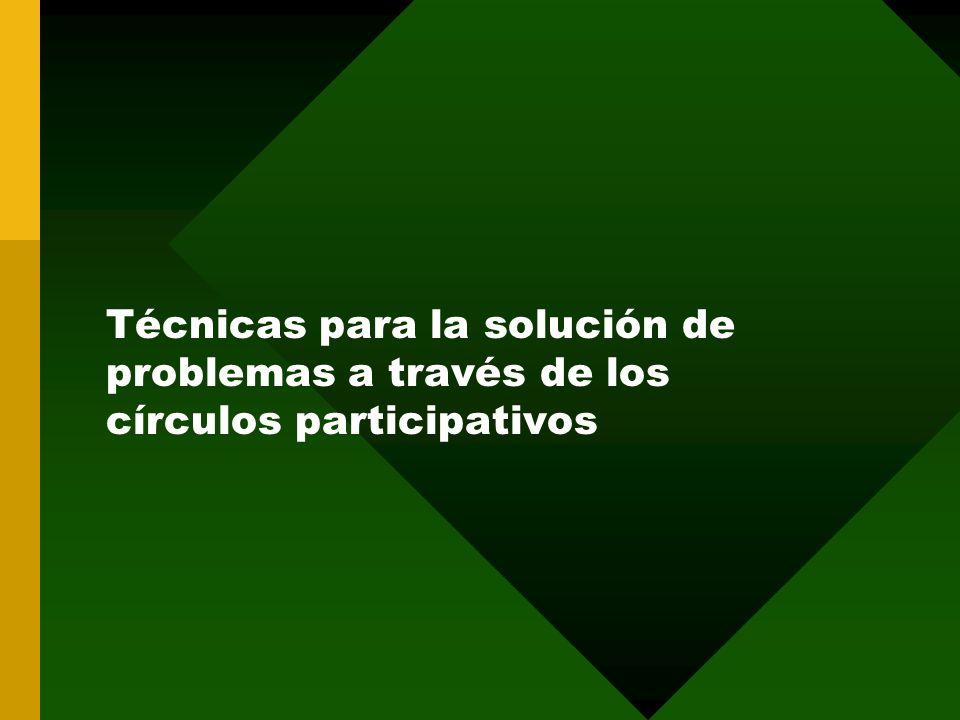 Técnicas para la solución de problemas a través de los círculos participativos