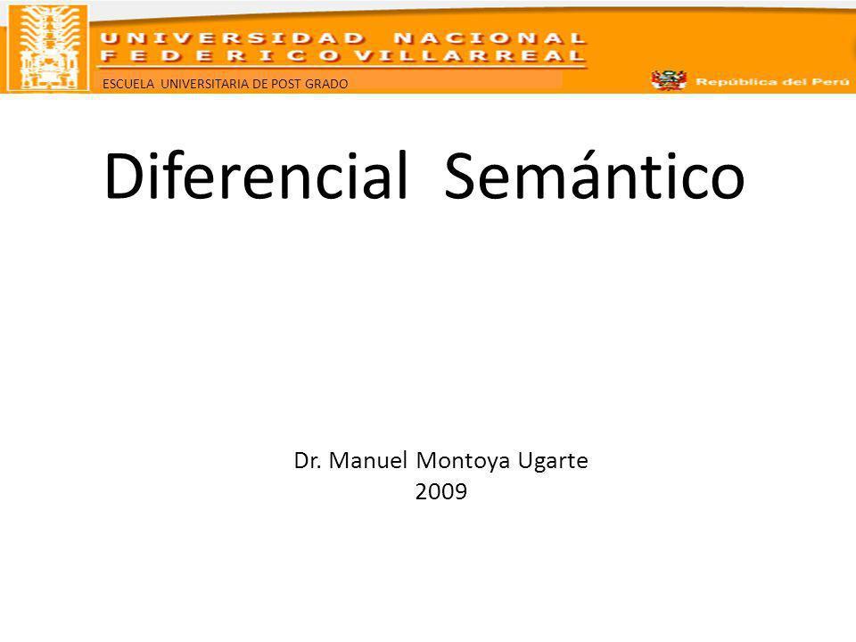 ESCUELA UNIVERSITARIA DE POST GRADO Diferencial Semántico Dr. Manuel Montoya Ugarte 2009